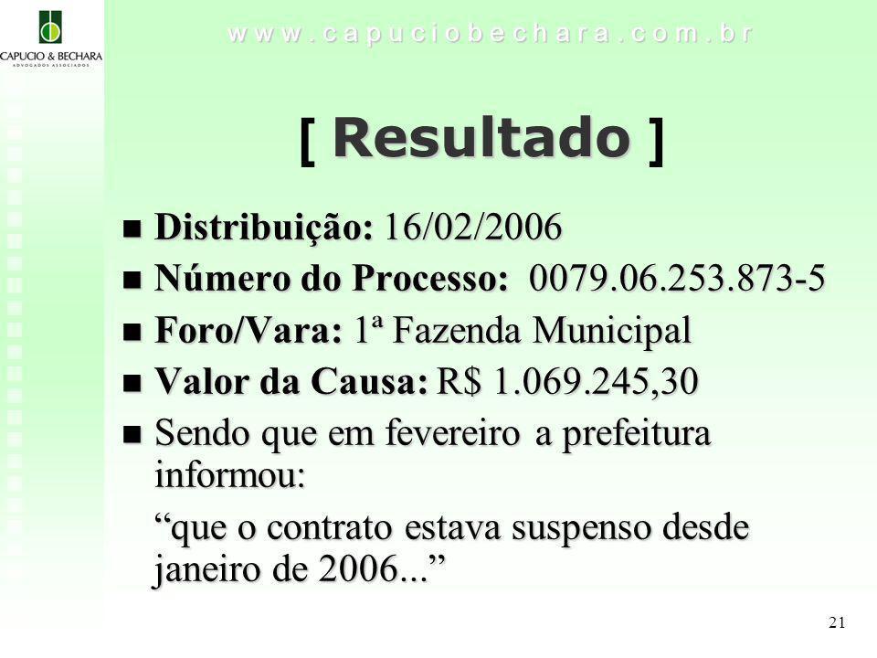 [ Resultado ] Distribuição: 16/02/2006